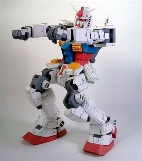 Free Papercraft Downloads - detailed poseable rx 78 2 gundam ver kimchulho free