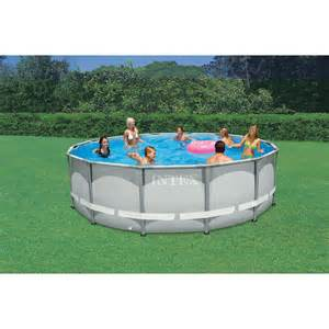 Backyard Pools Walmart Intex 20 X 12 X 48 Quot Oval Frame Above Ground Swimming Pool With Filter Walmart