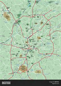 greater atlanta area map stock photo stock images bigstock