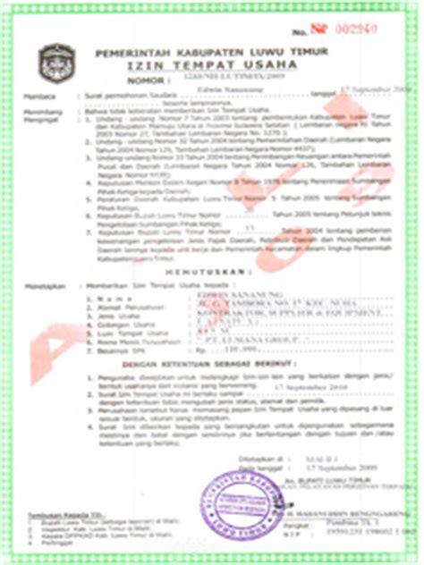 contoh surat izin tempat usaha yang benar kata mutiara