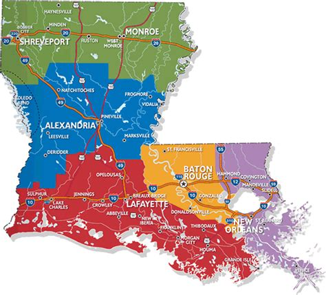 louisiana map cities towns free louisiana travel brochures tourlouisiana