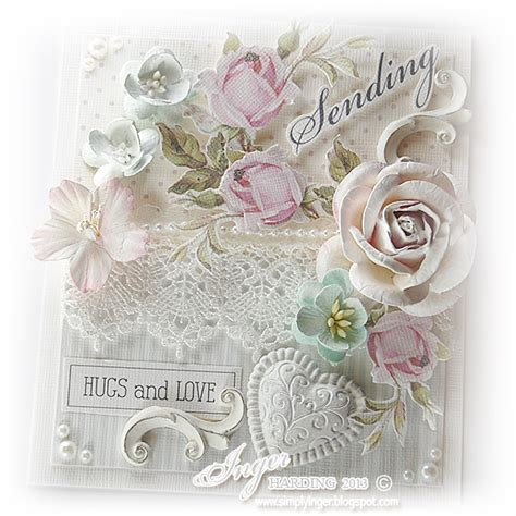 shabby chic card by inger harding for my handmade greeting cards visit me at my english