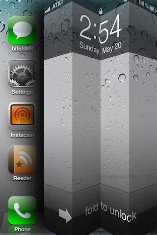 iphone pattern lock screen without jailbreak upcoming jailbreak tweak allows you to fold your lock