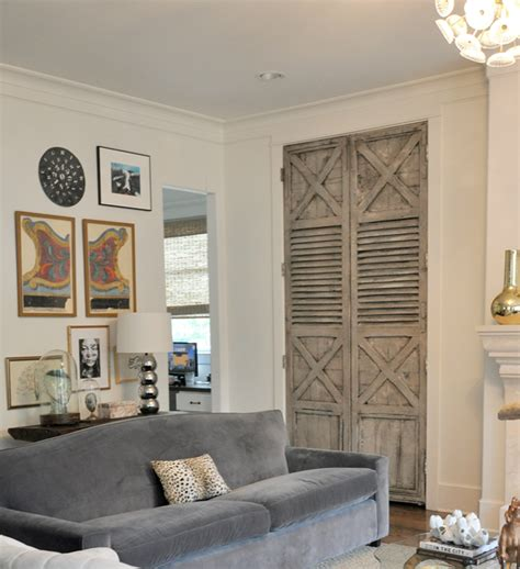 living room doors distressed doors transitional living room sally