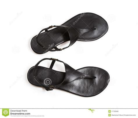 imagenes de sandalias negras sandalias negras fotos de archivo libres de regal 237 as
