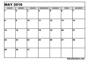 Ms Word Calendar Template by May 2016 Calendar Microsoft Word