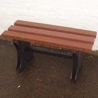 small plastic bench recycled plastic bench backless