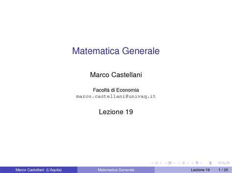 dispense matematica generale algebra dei limiti dispense