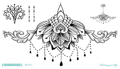 tattoo body spots bc 011 latest mandala tattoo waterproof body fresh
