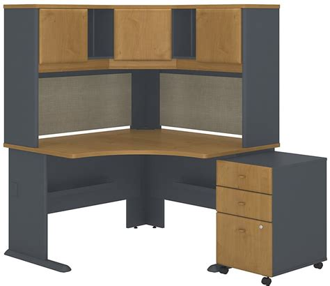 Corner Desk With Hutch And Drawers by Series A Collection 48 W X 48 D Corner Desk With Hutch