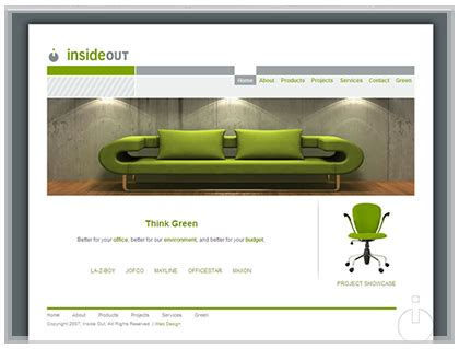 home designer website interior decorator office web site design