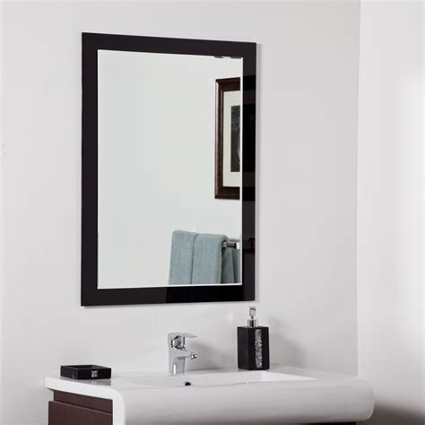 decorate a bathroom mirror decor wonderland aris modern bathroom mirror beyond stores