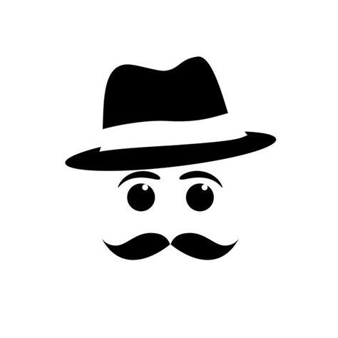 moustache maniacs logo 6 logo mustache and hat vector wall mural vinyl pixers