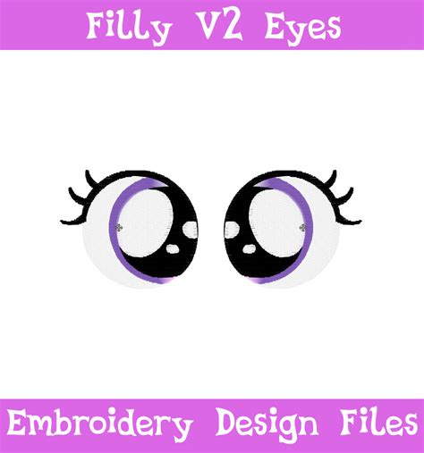 embroidery design eyes pes files filly eyes v2 embroidery machine design