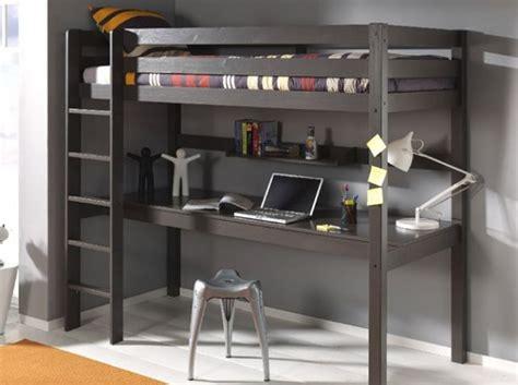 lit bureau adulte mezzanine chambre adulte lit mezzanine avec bureau f260 glicerio lit haut mezzanine dimix