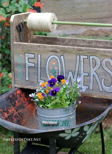Diy wheelbarrow garden trug wheelbarrow garden gardens and planters