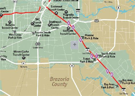 houston hov map hov lanes i 45 south gulf freeway access rs metro
