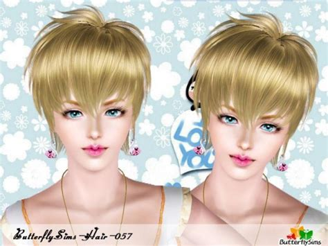 butterfly sims 3 male hair the sims 3 sleek seductress hairstyle hair 57 by butterfly
