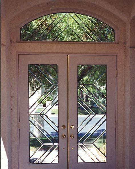 Beveled Glass Doors Exterior Beveled Glass Entry Window Door Contemporary