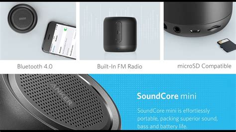 Anker Soundcore Mini Bluetooth Speaker Original anker soundcore mini 66 foot range and 15 hour 5w bluetooth speaker