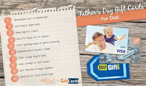 Gift Cards For Dads - top 10 father s day gift cards for dads gcg