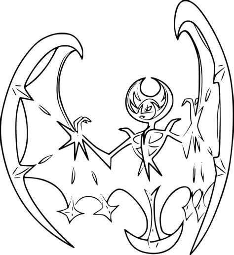 coloring page info lunala coloring page
