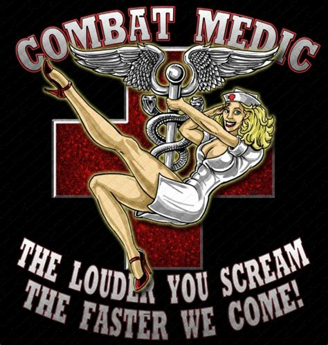 army combat medic pinup military shirt from vision