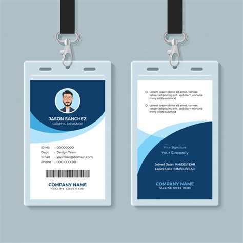 Employee Id Card Template Vector simple and clean employee id card design template vector