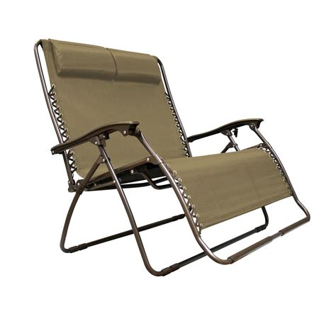 reclining lawn chair caravan sports infinity love seat beige metal textilene