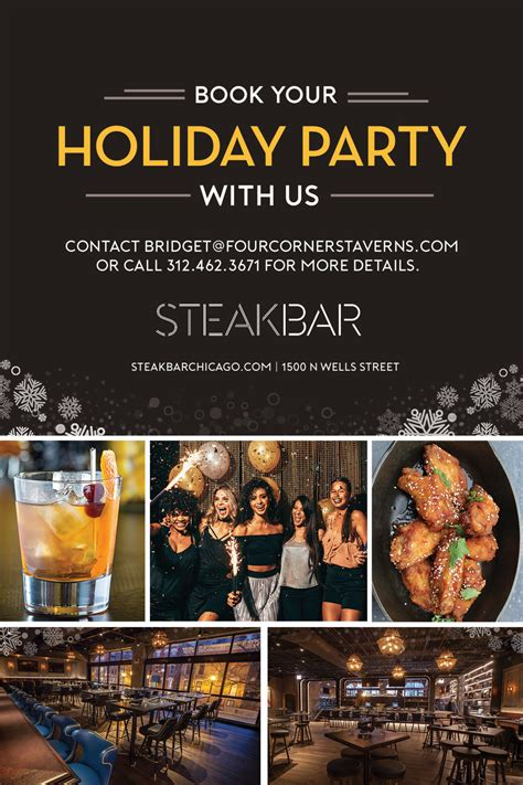 book your holiday party with us at steakbar october 9 2017