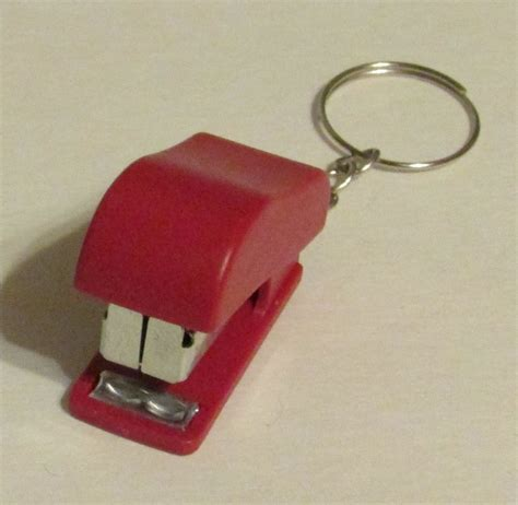 How To Make Paper Key - mini stapler school office for paper key chain ring