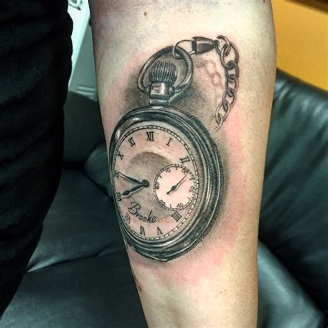 stopwatch tattoo black and gray stopwatch by capone tattoonow