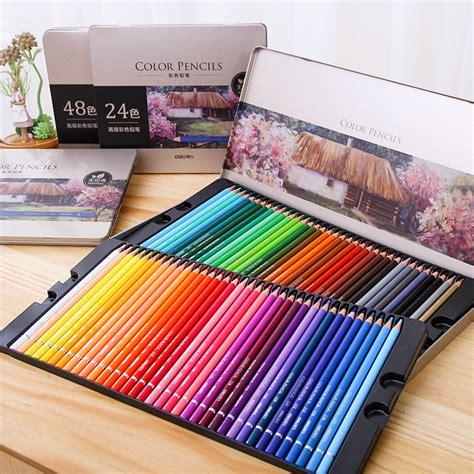 Faber Castell Hexagonal Pastel Crayon 24 Colours Warna deli 24 36 48 72 colors color pencil iron box pastel coloring pen advanced drawing sketch