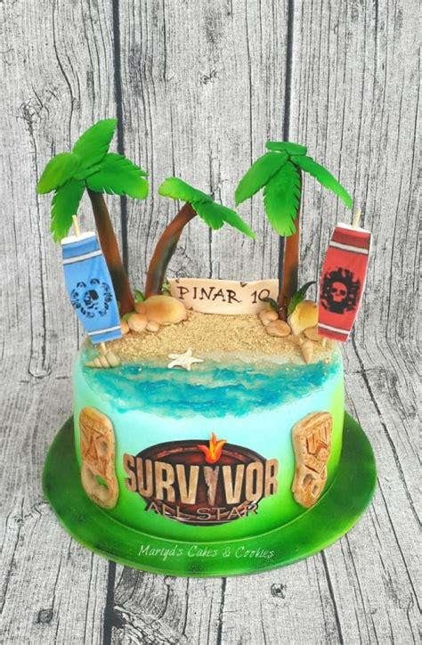 survivor cake  mariyas cakes cookies survivor party