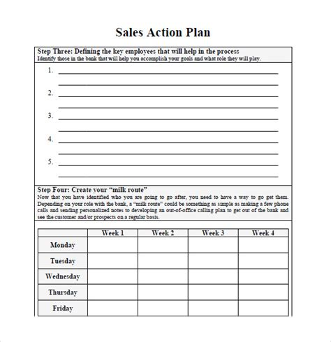 free sales plan template word 7 free sales plan templates excel pdf formats