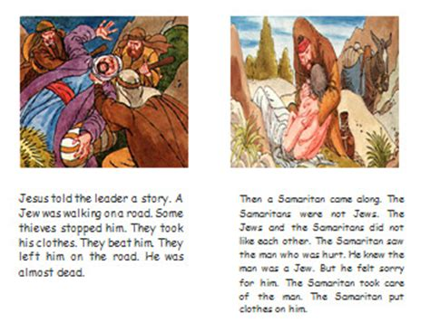 story books with pictures pdf the samaritan story book
