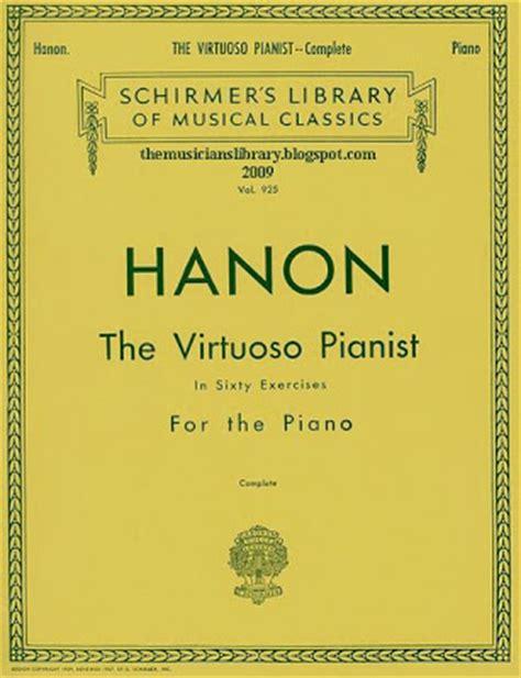 libro hanon the virtuoso pianist teclablogs libros