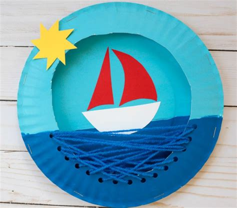 how to make a paper plate boat ahoy little crafters how to make a paper plate boat in