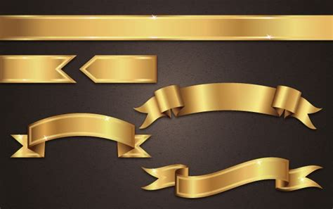 vector ribbon tutorial get gilded with this gold ribbon banner vector tutorial