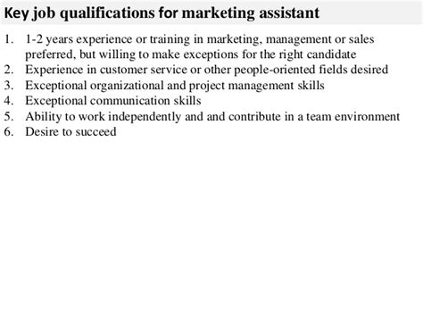 marketing assistant description