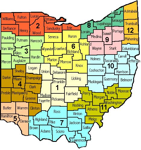 ohio zip code map ohio