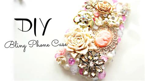diy bling deco phone
