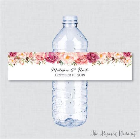 water bottle labels for wedding favors weddingbee water bottle