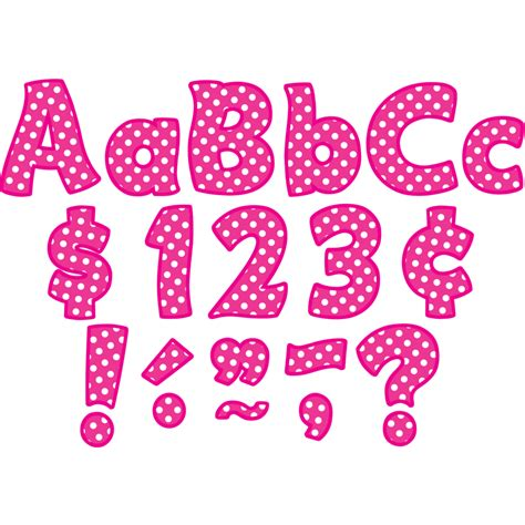 hot stuff 4 letters hot pink polka dots funtastic 4 quot letters combo pack