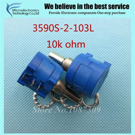 10k ohm precision resistor aliexpress buy 3590s 2 103l 3590s 10k ohm precision multiturn potentiometer 10 ring