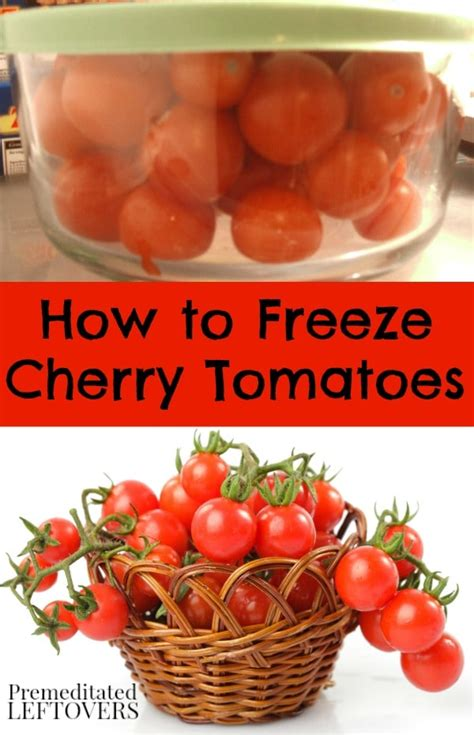 Freezing Tomatoes From The Garden by How To Freeze Cherry Tomatoes