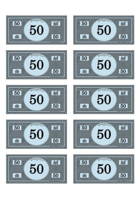 monopoly money templates monoploy money 50 speech classroom ideas