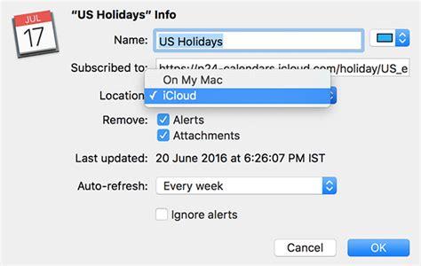 how to make a calendar subscription how to sync a calendar subscription across apple devices