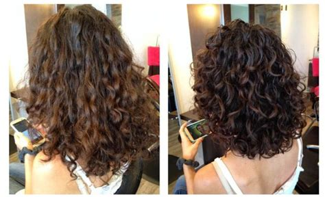 before and after cut and perm pictures deva cut hair cuts pinterest curly hair hair and perms