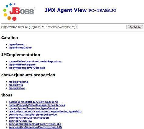 jmx console jmx y monitorizaci 243 n de jboss adictosaltrabajo